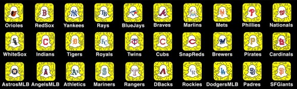 MLB teams snapchat