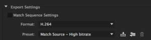 360 video export settings premiere